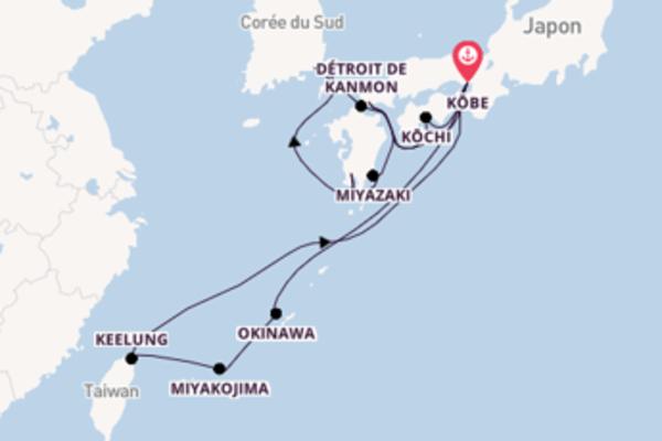 15 jours pour découvrir Keelung à bord du beateau Diamond Princess