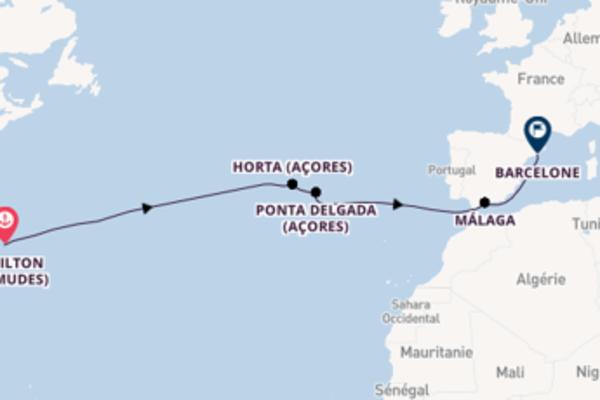 Horta (Açores), depuis Hamilton (Bermudes) à bord du bateau Silver Moon