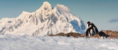 Weißes Paradies in der Antarktis