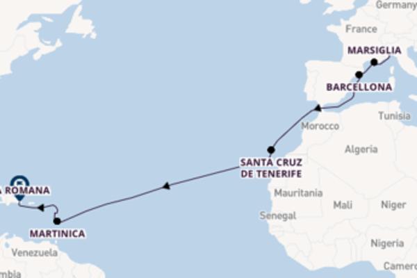 A bordo di Costa Magica da Savona
