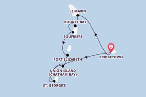 Spannende Kreuzfahrt über Union Island (Chatham Bay) ab Bridgetown