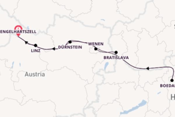 8-daagse reis naar Engelhartszell