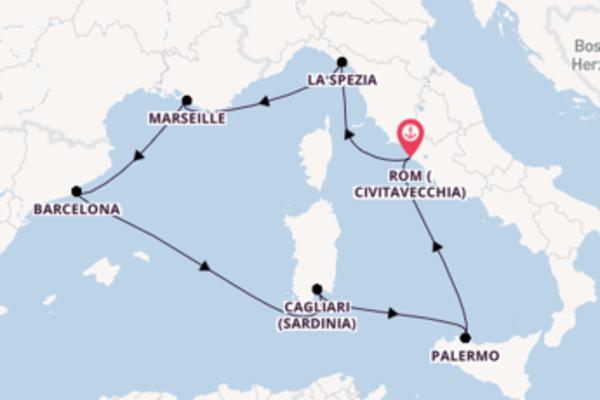8-tägige Kreuzfahrt bis Rom (Civitavecchia)
