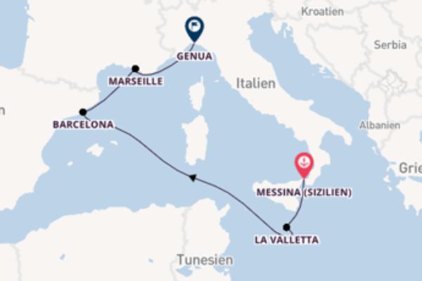 6-tägige Kreuzfahrt ab Messina (Sizilien)