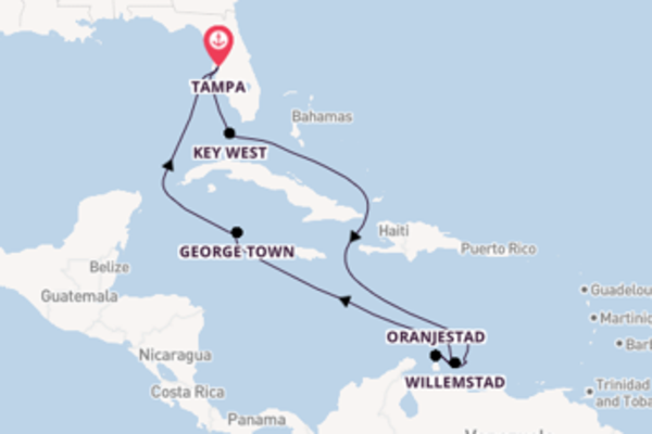 12-daagse cruise vanaf Tampa