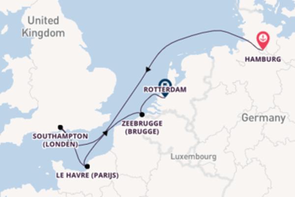 Cruise in 6 dagen naar Rotterdam met AIDA Cruises