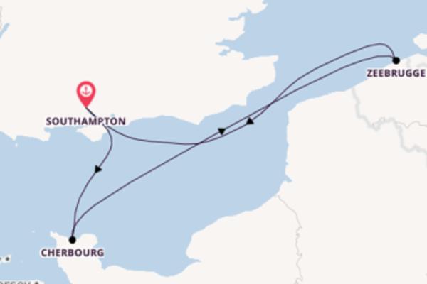 Jornada de 4 dias até Southampton com o MSC Magnifica