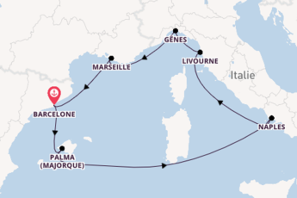 8 jours pour découvrir Livourne à bord du beateau MSC Seaside