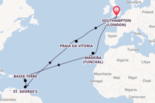 Magnificent trip from Southampton (London) with P&O Cruises
