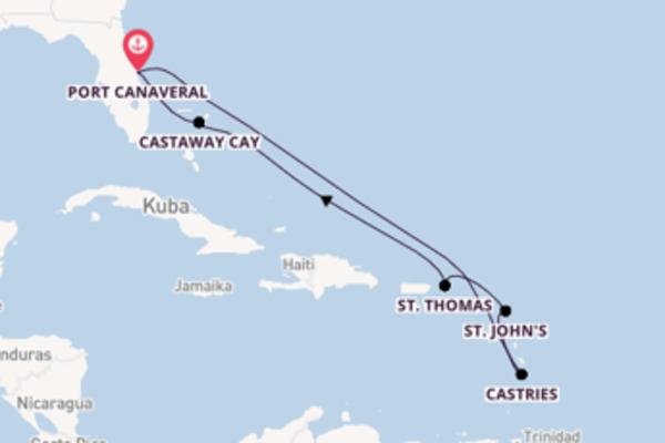10-tägige Kreuzfahrt ab Port Canaveral