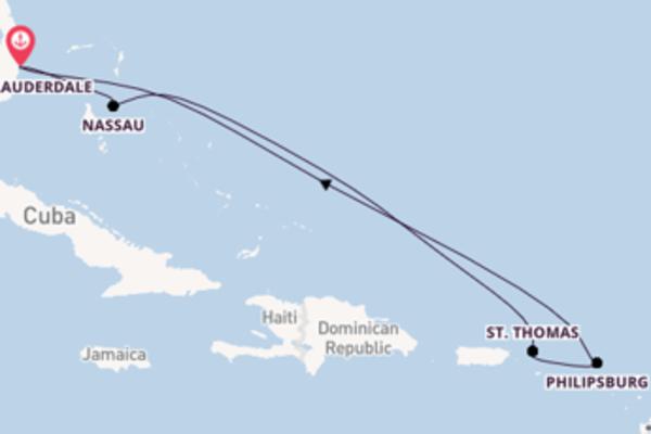 Vaar met de Allure of the Seas naar Fort Lauderdale
