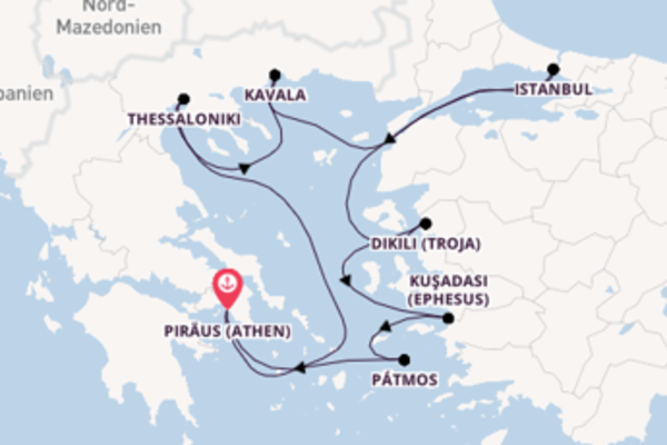 Kreuzfahrt mit der Celestyal Crystal nach Piräus (Athen)