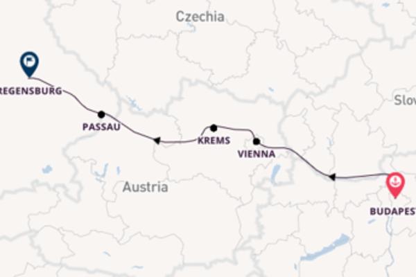 8 day journey from Budapest to Regensburg