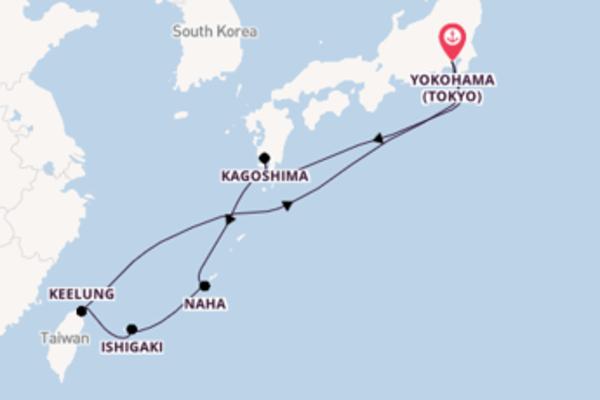 10 giorni di crociera da Yokohama (Tokyo)