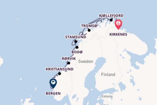 Ervaar Tromsø, Noorwegen met Hurtigruten