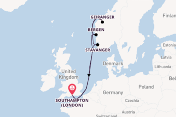 8 day cruise with the Anthem of the Seas to Southampton (London)