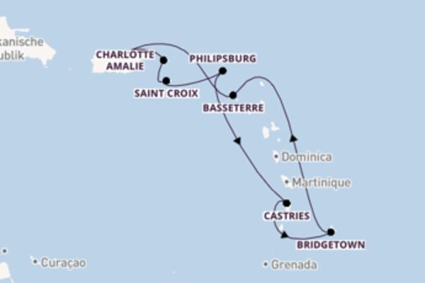 8-tägige Kreuzfahrt ab San Juan