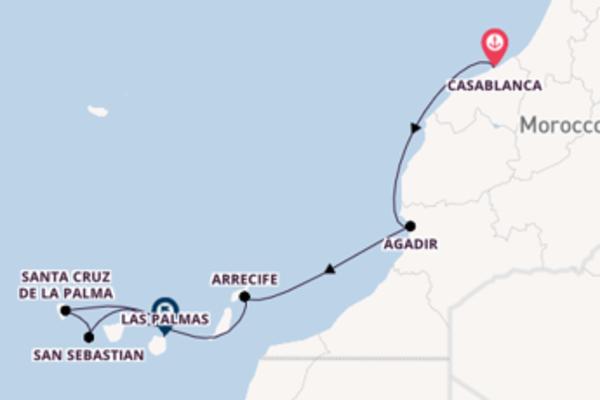 11 day trip on board the Sea Cloud II from Casablanca