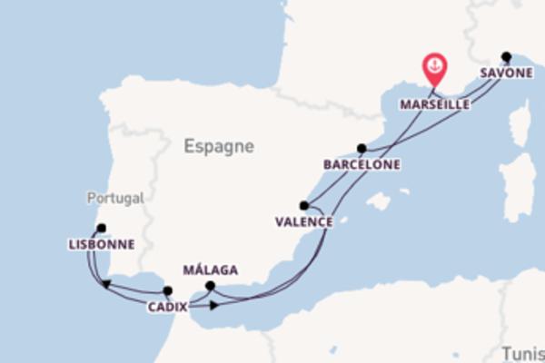 Belle croisière vers Marseille via Cadix