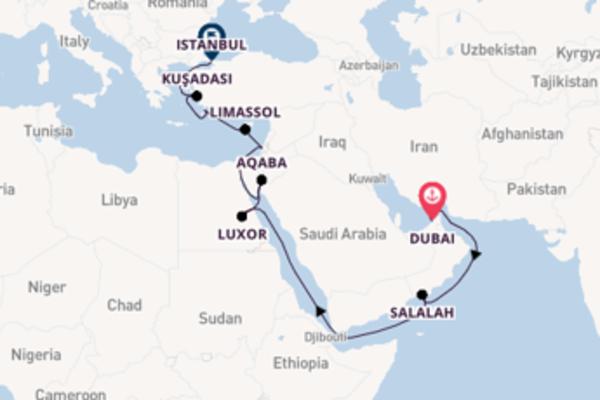 Viaggio da Dubai verso Aqaba