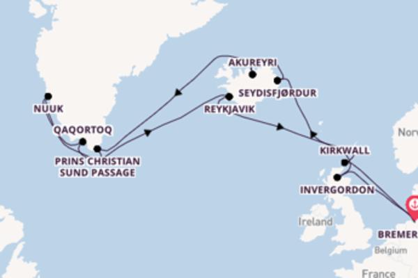 Cruise in 22 dagen naar Bremerhaven met AIDA Cruises