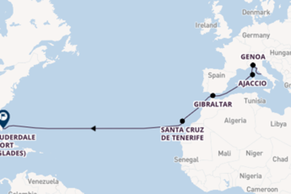 Trip with Princess Cruises from Rome (Civitavecchia) to Fort Lauderdale (Port Everglades)