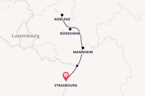 5 day cruise from Strasbourg