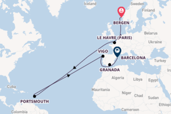 Sailing with Viking Ocean Cruises from Bergen to Barcelona