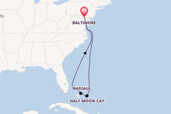 8-daagse cruise met de Carnival Legend vanuit Baltimore