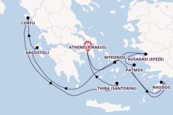 8-daagse cruise door Griekenland