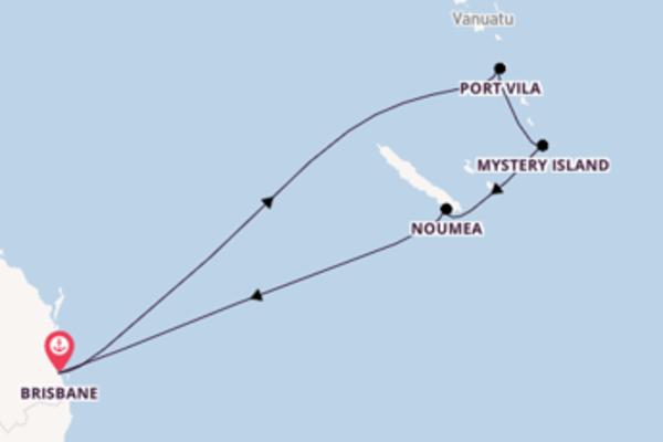 In 10 Tagen nach Brisbane über Mystery Island