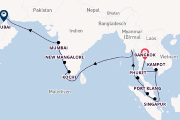 Eindrucksvolle Reise über Kochi in 25 Tagen