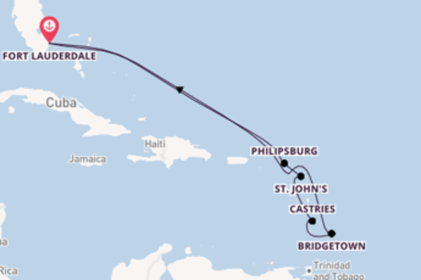 11-daagse cruise vanaf Fort Lauderdale