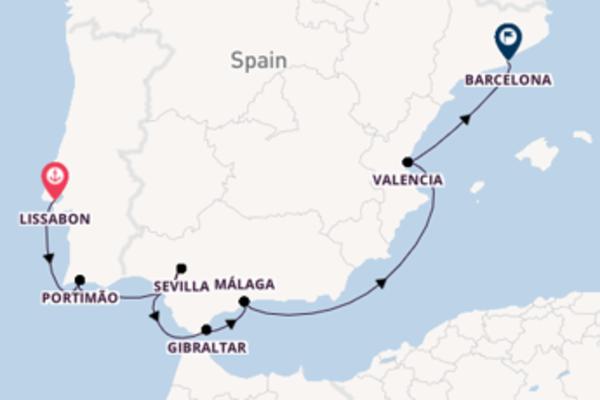 Aanschouw Lissabon, Valencia en Barcelona
