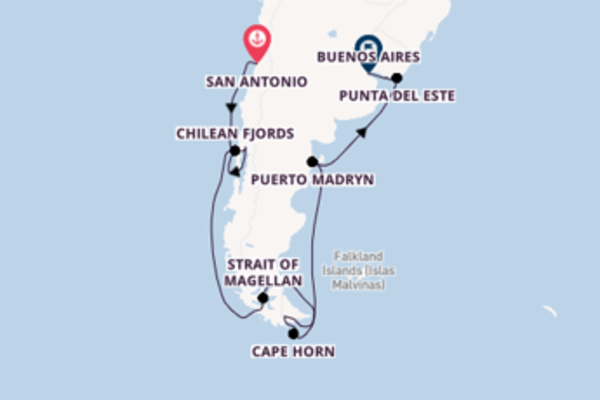 Journey with Celebrity Cruises from San Antonio to Buenos Aires