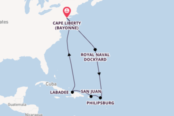 10 day expedition from Cape Liberty , New Jersey