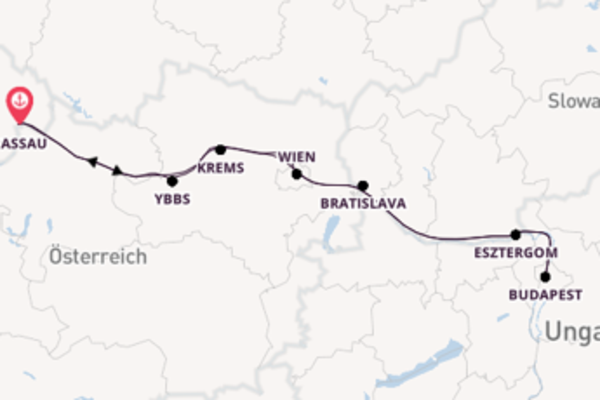 8-tägige Rundreise in Passau mit der MS Heidelberg