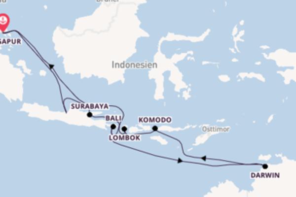 22 Tage Asien Kreuzfahrt