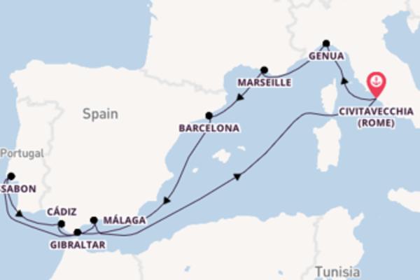 Cruise met MSC Cruises naar Cádiz