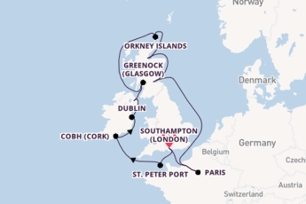 Voyage with Princess Cruises from Southampton