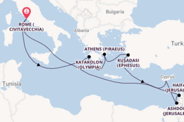 Spectacular journey from Rome (Civitavecchia) with Celebrity Cruises