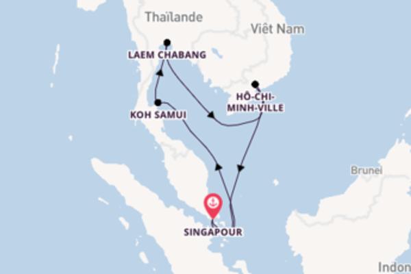 Belle croisière vers Singapour via Laem Chabang
