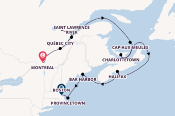 Sailing from Montreal to Boston