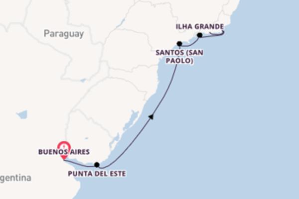 8 giorni verso Rio de Janeiro passando per Punta del Este