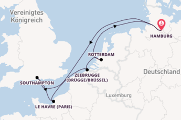 In 8 Tagen nach Hamburg über Zeebrugge