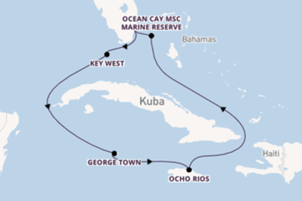 Miami und Ocho Rios entdecken