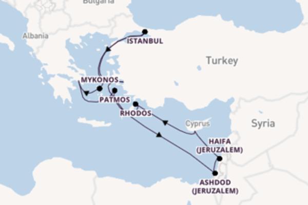 Cruise in 11 dagen naar Athene (Piraeus) met Norwegian Cruise Line