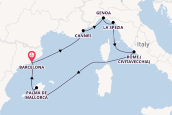 Voyage with MSC Cruises from Barcelona