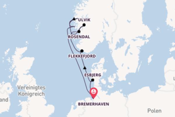 Spannende Reise über Esbjerg in 8 Tagen