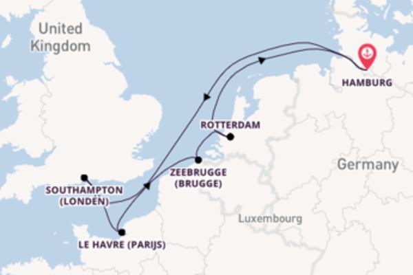 8daagse reis naar Hamburg